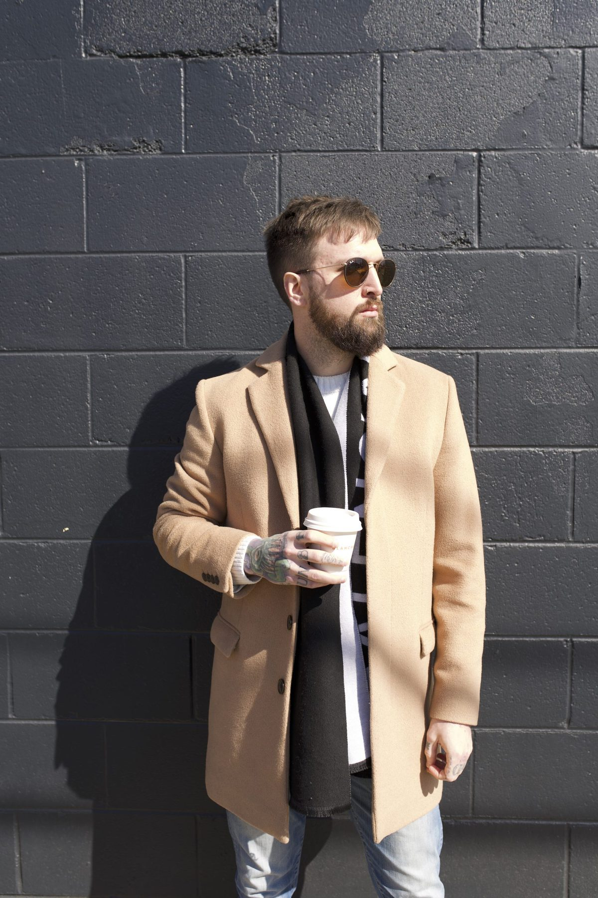Myke Metzger w/ coffee in hand at Blacnchard's Coffee in Richmond, VA